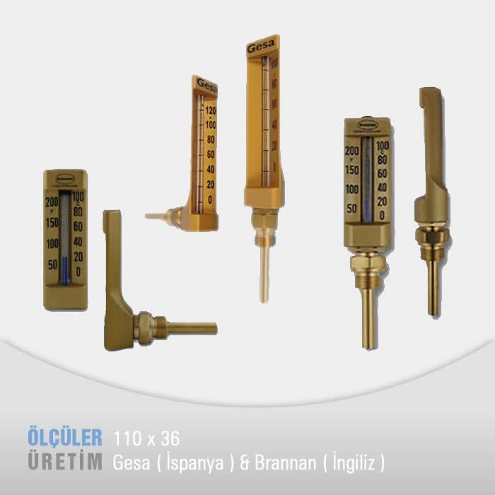 Makine Termometresi (110 mm Göv)