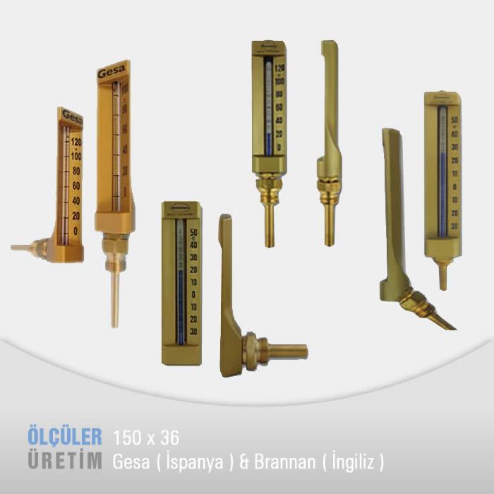Makine Termometresi (150 mm Göv)